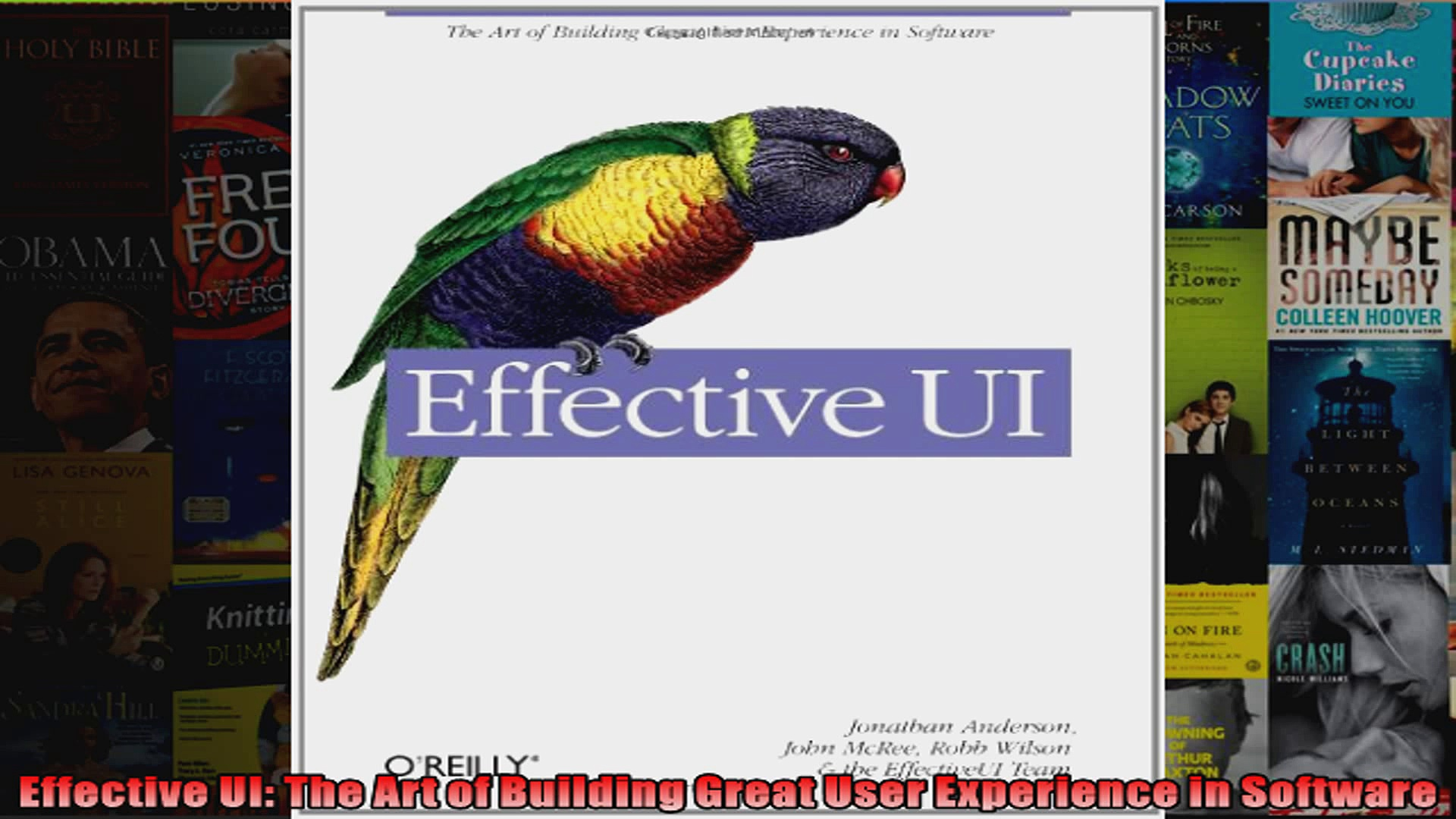 Effective UI The Art of Building Great User Experience in Software