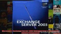 Microsoft Exchange Server 2003 Administrators Companion Admin Companion