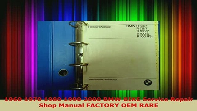 Download  1960 1970 1980 1990 2000 BMW BIKE Service Repair Shop Manual FACTORY OEM RARE Download Full Ebook