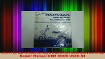 Download  1984 Honda NN50MD Gyro SCOOTER Bike Service Shop Repair Manual OEM BOOK USED 84 Download Online