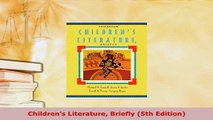 PDF  Childrens Literature Briefly 5th Edition Read Full Ebook