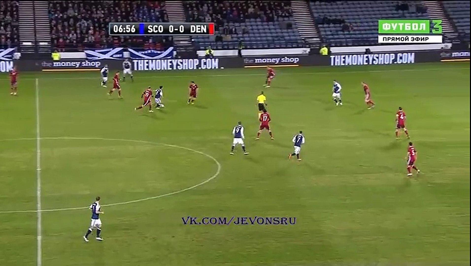 Matt Ritchie 1:0 Goal - Scotland - Denmark - 29/03/2016