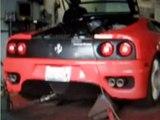 ferrari 360 cs dyno run AMAZING exhaust note