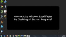 How to Disabling All Startup Programs on Windows?
