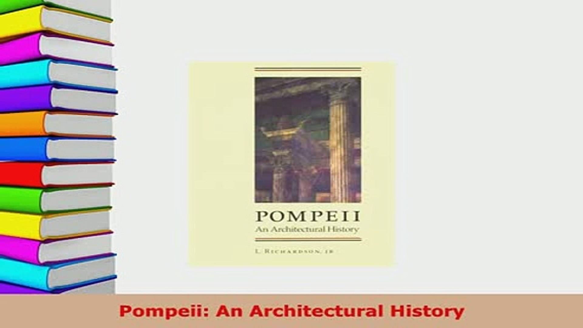 An Architectural History Pompeii
