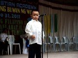 "Daniel Maurence Tula entitled ""Ako ay Pilipino"""