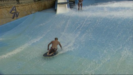 Surfing artificial waves allows riders to hit some new moves.