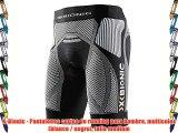 X-Bionic - Pantalones cortos de running para hombre multicolor (blanco / negro) talla medium