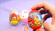 Angry Birds Toy Surprise EGGS UNBOXING Angry Birds Eggs and hello kitty KINDER SURPRISE
