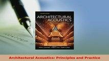 PDF  Architectural Acoustics Principles and Practice Download Online