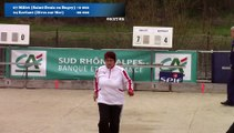 Mène 8, Finale Millet contre Kerfant, cinquième étape du Super 16 féminin, Sport Boules, Bourg-Saint-Andéol 2016