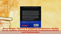 Download  Word Study Phonics  Spelling Minilessons Buddy Study System Fountas  Pinnell Read Online