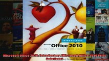 Microsoft Office 2010 Introductory Microsoft Office 2010 Print Solutions