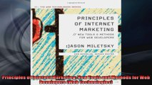 Principles of Internet Marketing New Tools and Methods for Web Developers Web
