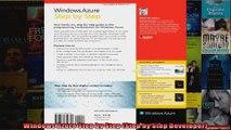 Windows Azure Step by Step Step by Step Developer