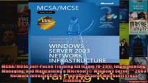 MCSAMCSE SelfPaced Training Kit Exam 70291 Implementing Managing and Maintaining a