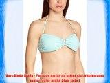 Vero Moda Moda - Parte de arriba de bikini sin tirantes para mujer color aruba blue talla l