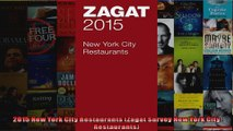 2015 New York City Restaurants Zagat Survey New York City Restaurants