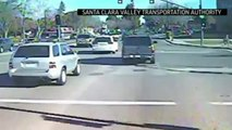 RAW: Moment when Google self driving Car hits Bus in Mountain View, California