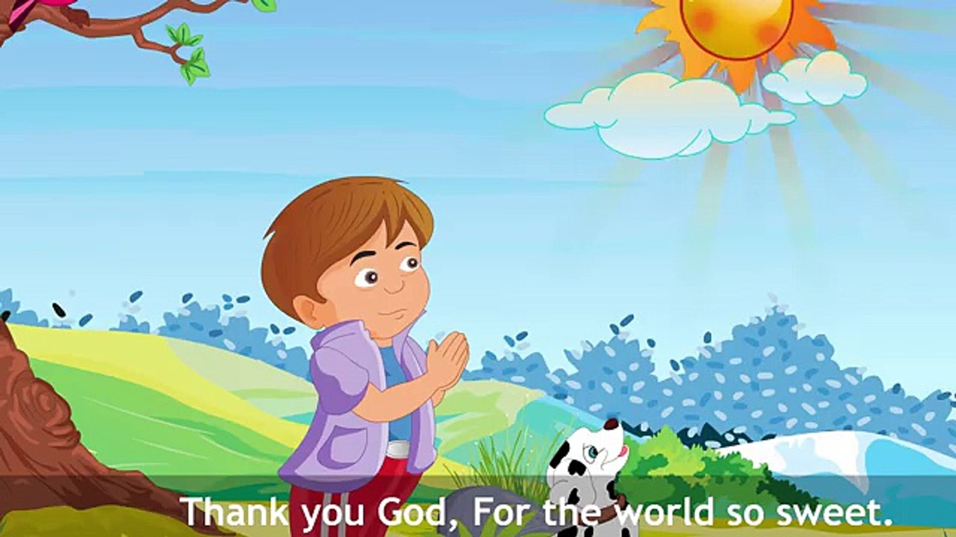 thank you god for the world so sweet video download