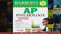 Barrons AP Psychology 7th Edition Barrons AP Psychology Exam