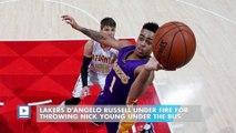 Lakers D'Angelo Russell under fire for throwing Nick Young under the bus