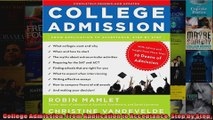 College Admission From Application to Acceptance Step by Step