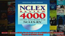 NCLEX Review 4000 Study Software for NCLEXRN Individual Version NCLEX 4000
