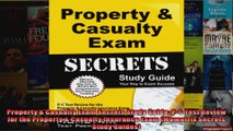 Property  Casualty Exam Secrets Study Guide PC Test Review for the Property  Casualty