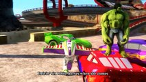 Cars Spiderman Nursery ♪ She'll be coming round the mountain ♪ Buzz Lightning McQueen [HD]
