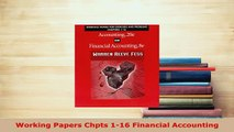 PDF  Working Papers Chpts 116 Financial Accounting Read Online