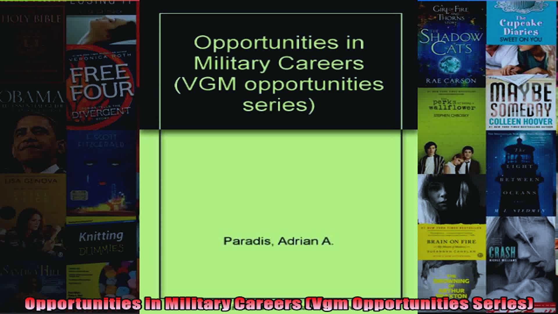 Opportunities in Military Careers Vgm Opportunities Series