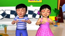 Learn Body Parts Song - 3D Animation English Nursery rhyme for children