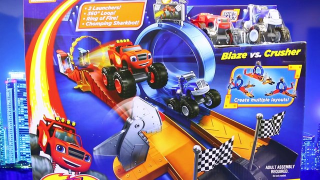 Blaze and the Monster Machines Monster Dome Car Toy Competing on Race Track Toy Review