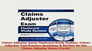 PDF Claims Adjuster Exam Flashcard Study System Cl