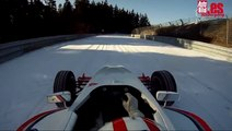 ¡Drift con un fórmula! Vuelta a un Nürburgring nevado