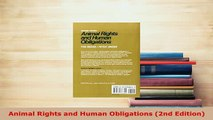 PDF  Animal Rights and Human Obligations 2nd Edition PDF Full Ebook