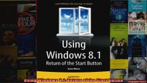 Using Windows 81 Return of the Start Button