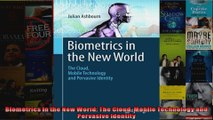 PDF Biometrics in the New World: The Cloud, Mobile