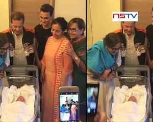 Salman With His Newly Born Nephew