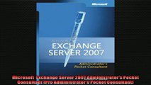 Microsoft  Exchange Server 2007 Administrators Pocket Consultant Pro Administrators
