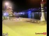 Sarıyer'de araç denize böyle uçtu