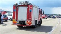 Diversen hulpdiensten met spoed naar een HV met Beknelling (Middel) (Demo) tijdens de 112 On Wheels