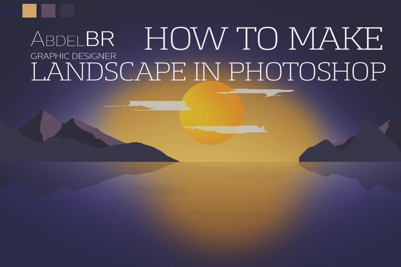 Photoshop Tutorials Flat Landscape