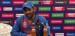 India vs Westindies World T20 2016- Dhoni reply after losing aganist Westindies
