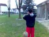 jonglage au stade vert