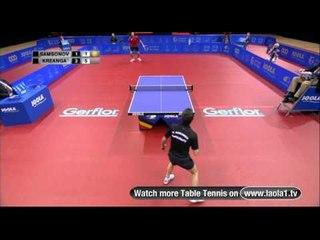 Highlights Table Tennis Europe TOP 12 Men - Belgium 2011