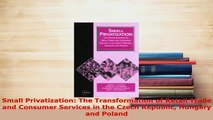 PDF  Small Privatization The Transformation of Retail Trade and Consumer Services in the Czech Free Books