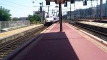 SNCF/SNCB - [3 TGV, 2 TER Rhône-Alpes, 1 Annonce] à l'arrivée à Lyon Part Dieu