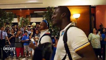 watch WEST INDIES how to celebrate a semi-final win
